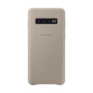 Купить Кожаный чехол Samsung Leather Back Cover Gray для Samsung Galaxy S10