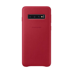 Купить Кожаный чехол Samsung Leather Back Cover Red для Samsung Galaxy S10