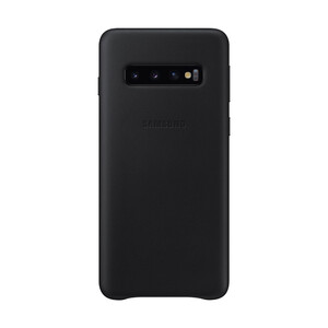 Купить Кожаный чехол Samsung Leather Back Cover Black для Samsung Galaxy S10