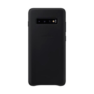 Купить Кожаный чехол Samsung Leather Back Cover Black для Samsung Galaxy S10 Plus