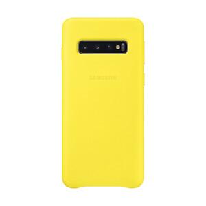 Купить Кожаный чехол Samsung Leather Back Cover Yellow для Samsung Galaxy S10