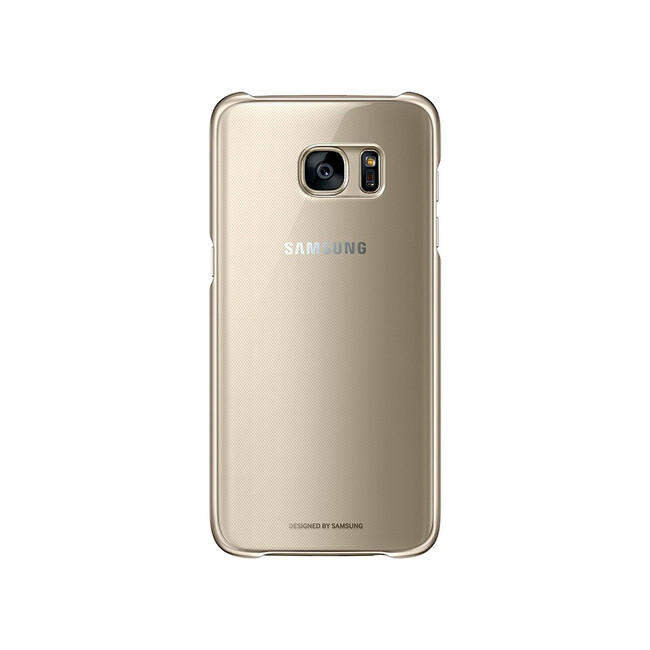 Чехол Samsung Protective Clear Cover Gold для Samsung Galaxy S7 edge