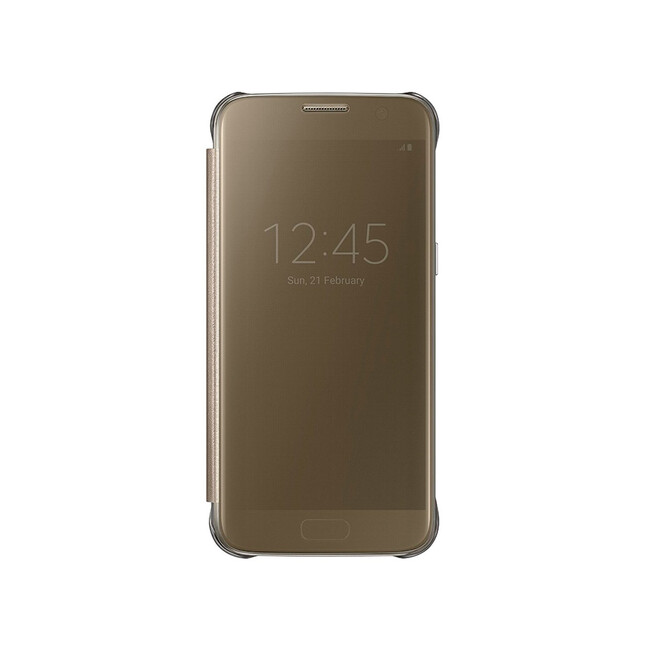 Чехол Samsung S-View Clear Cover Gold для Samsung Galaxy S7