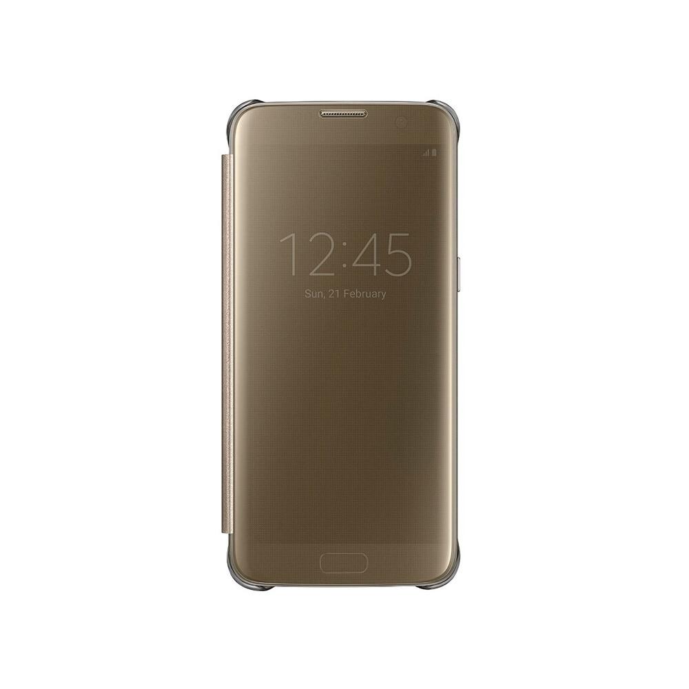 Чехол Samsung S-View Clear Cover Gold для Samsung Galaxy S7 edge
