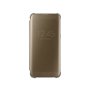 Купить Чехол Samsung S-View Clear Cover Gold для Samsung Galaxy S7 edge