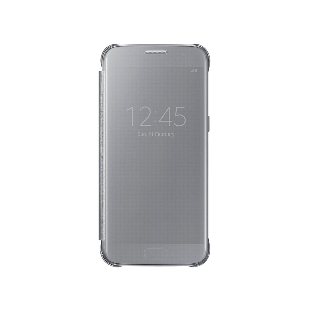Чехол Samsung S-View Clear Cover Silver для Samsung Galaxy S7