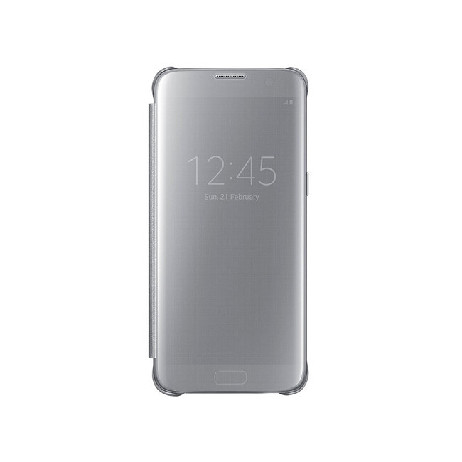 Чехол Samsung S-View Clear Cover Silver для Samsung Galaxy S7 edge