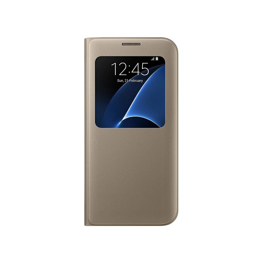 Чехол Samsung S View Cover Gold для Samsung Galaxy S7 edge