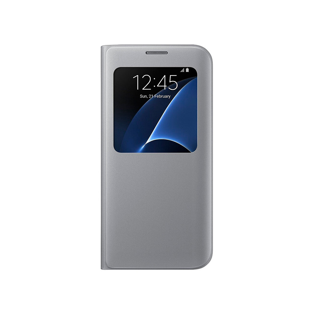 Чехол Samsung S View Cover Silver для Samsung Galaxy S7 edge