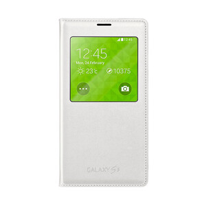 Купить Чехол Samsung S-View Flip Cover White для Samsung Galaxy S5