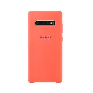Купить Силиконовый чехол Samsung Silicone Cover Berry Pink для Samsung S10 Plus