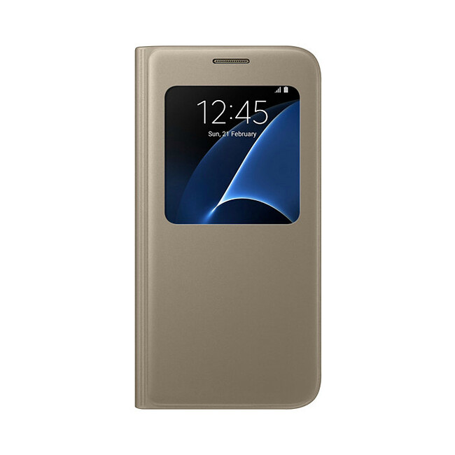 Чехол Samsung S View Cover Gold для Samsung Galaxy S7