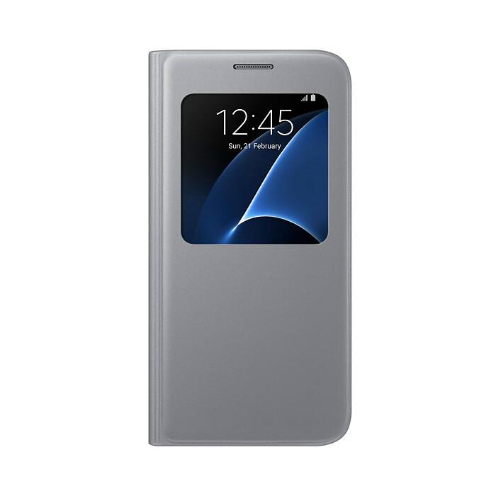 Чехол Samsung S View Cover Silver для Samsung Galaxy S7