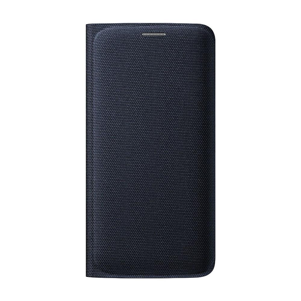 Чехол Samsung Wallet Flip Cover Fabric Black Sapphire для Samsung Galaxy S6 Edge (EF-WG925BBEGUS)
