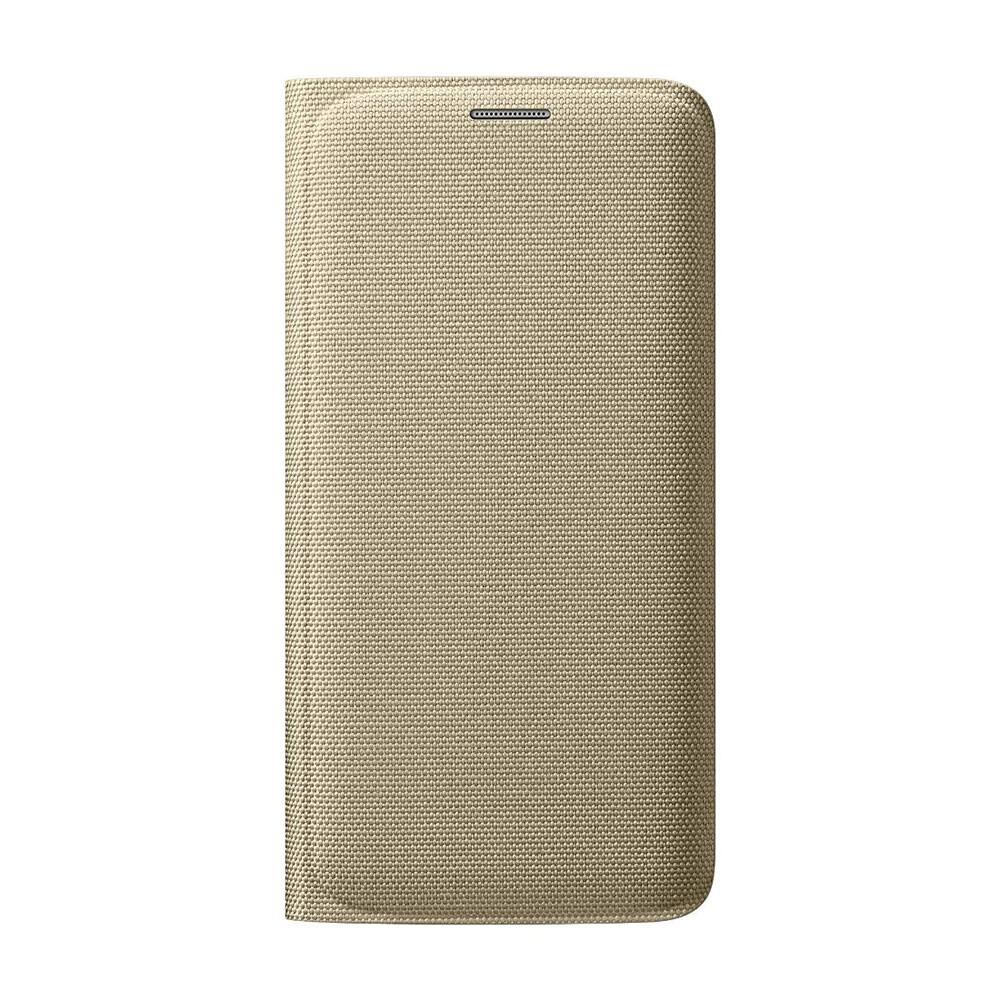 Чехол Samsung Wallet Flip Cover Fabric Gold для Samsung Galaxy S6 Edge (EF-WG925BFEGUS)