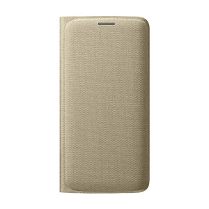 Купить Чехол Samsung Wallet Flip Cover Fabric Gold для Samsung Galaxy S6 Edge (EF-WG925BFEGUS)