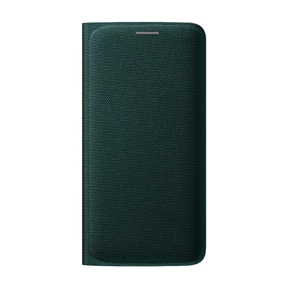 Чехол Samsung Wallet Flip Cover Fabric Green для Samsung Galaxy S6 Edge (EF-WG925BGEGUS)