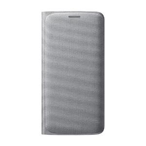 Купить Чехол Samsung Wallet Flip Cover Fabric Silver для Samsung Galaxy S6 Edge (EF-WG925BSEGUS)