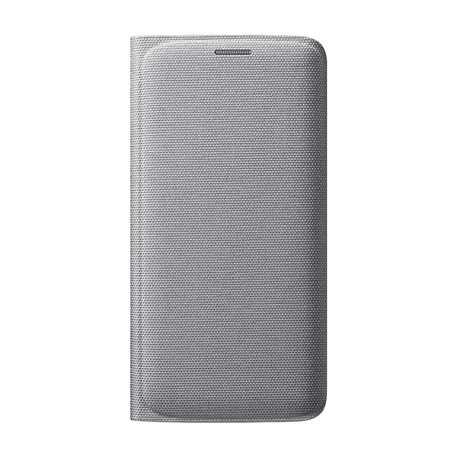 Чехол Samsung Wallet Flip Cover Fabric Silver для Samsung Galaxy S6 Edge (EF-WG925BSEGUS)