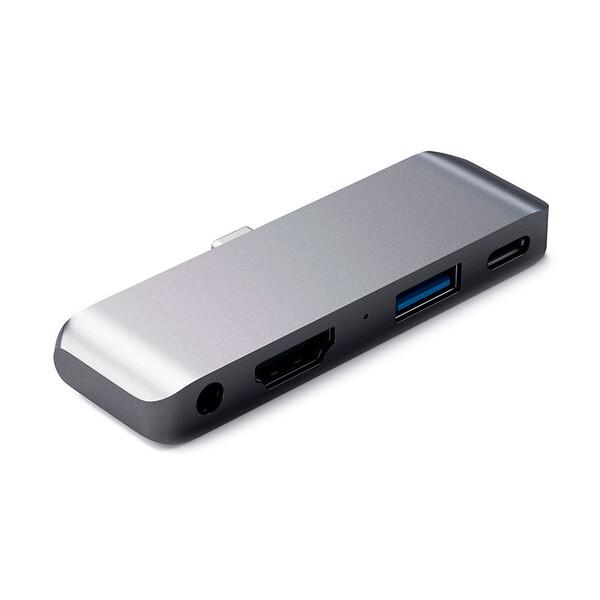 "Хаб Satechi Aluminum Type-C Mobile Pro Hub Space Gray для iPad Pro 11"" | 12.9"" | Air 4"