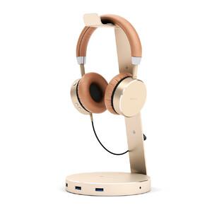 Купить Подставка Satechi Aluminum USB 3.0 Headphone Stand Gold для наушников