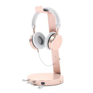 Купить Подставка Satechi Aluminum USB 3.0 Headphone Stand Rose Gold для наушников