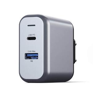 Купить Быстрое зарядное устройство (сетевой адаптер) Satechi Dual-Port Wall Charger 30W