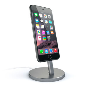 Купить Док-станция Satechi Aluminum Lightning Charging Stand Space Gray для iPhone/iPod