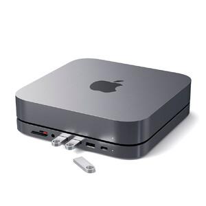 Купить Алюминиевая подставка + хаб Satechi Type-C Aluminium Stand для Mac Mini