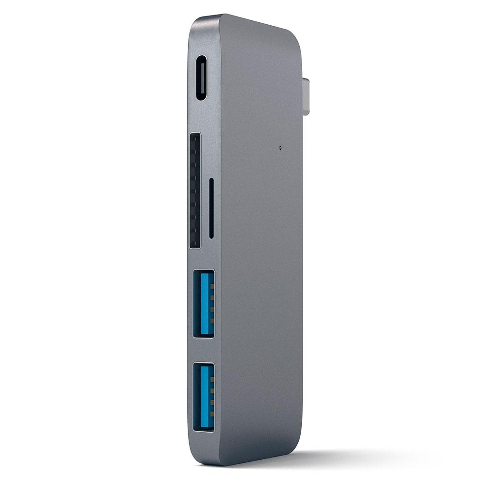 Купить Алюминиевый USB-хаб Satechi Type-C Pass Through Space Gray