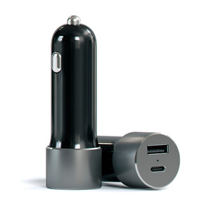 Купить Автозарядка Satechi USB-C Car Charger Space Grey