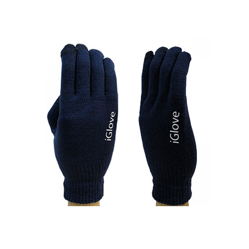Перчатки iGlove для сенсорных экранов iPhone, iPad, iPod Темно-синие