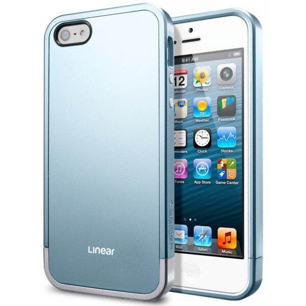 Чехол SGP Linear Metal Series Metal Blue OEM для iPhone 5/5S/SE