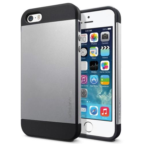 Чехол Spigen SGP Slim Armor Silver OEM для iPhone 4/4S