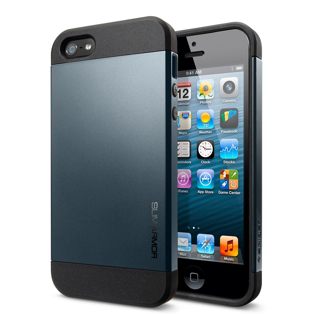 Чехол Spigen Slim Armor Metal Slate OEM для iPhone 5/5S/SE