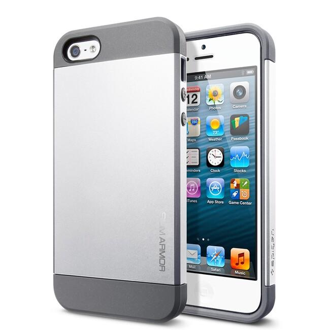 Чехол Spigen Slim Armor Satin Silver для iPhone 5/5S/SE