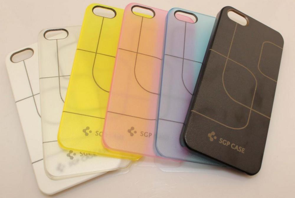 Прозрачный чехол SGP Simple Stripes для iPhone 5/5S/SE