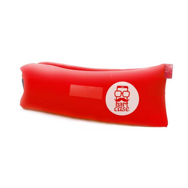 Надувной шезлонг (ламзак) BartCase Красный (без кармана)
