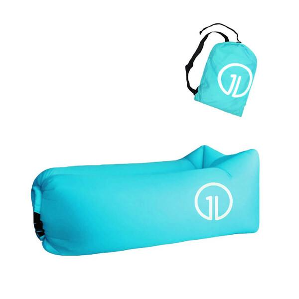 Надувной шезлонг (ламзак) iLoungeMax Голубой (c карманом)