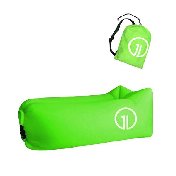 Надувной шезлонг (ламзак) iLoungeMax Зеленый (с карманом)