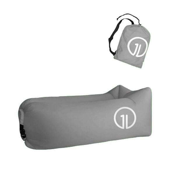 Надувной шезлонг (ламзак) iLoungeMax Серый (c карманом)