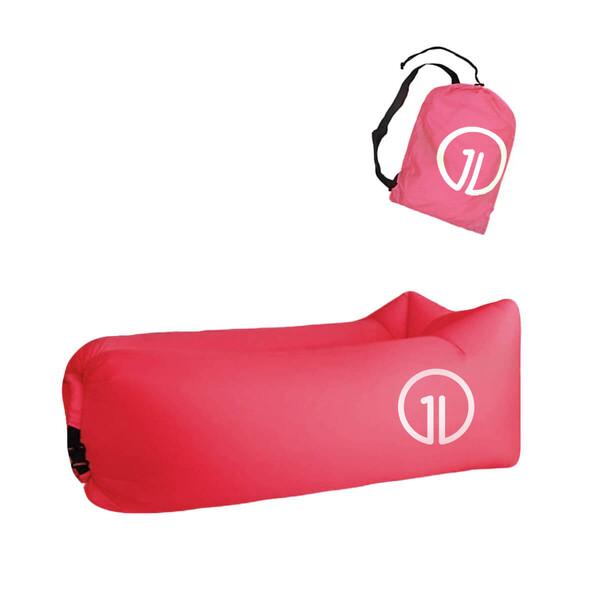 Надувной шезлонг (ламзак) iLoungeMax Розовый (c карманом)