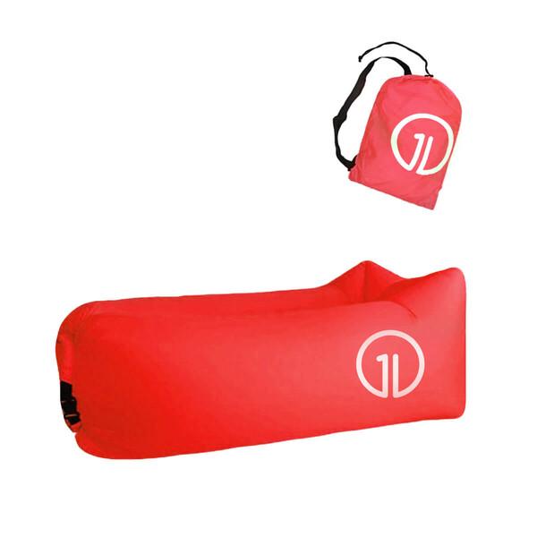 Надувной шезлонг (ламзак) iLoungeMax Красный (c карманом)