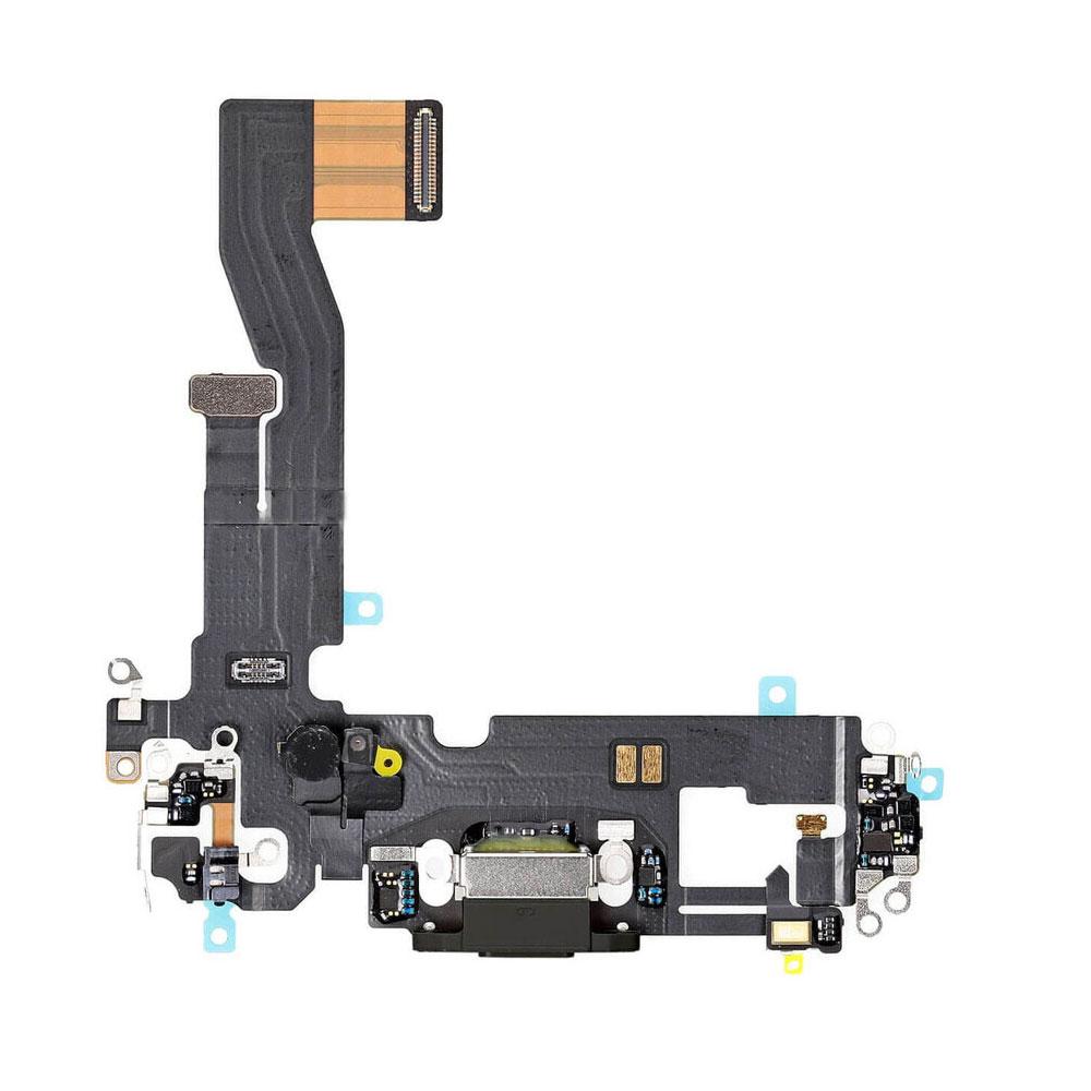 Купить Шлейф с разъемом зарядки Lightning (Black) для iPhone 12