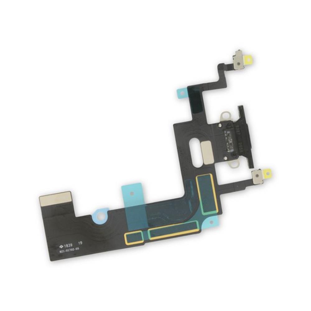 Купить Шлейф с разъемом зарядки Lightning (Black) для iPhone XR