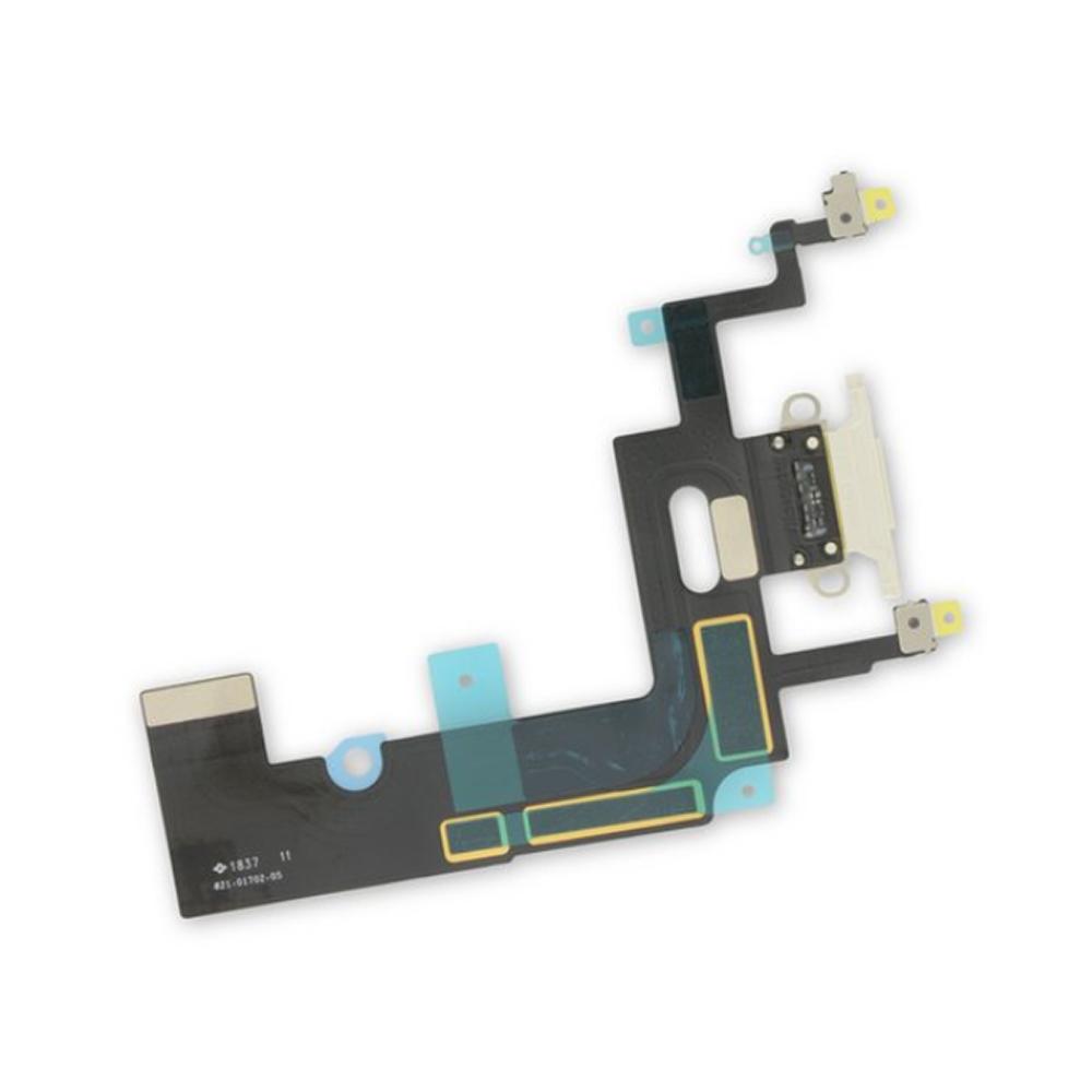 Купить Шлейф с разъемом зарядки Lightning (White) для iPhone XR