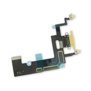 Купить Шлейф с разъемом зарядки Lightning (Yellow) для iPhone XR