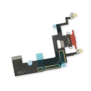 Купить Шлейф с разъемом зарядки Lightning (Red) для iPhone XR