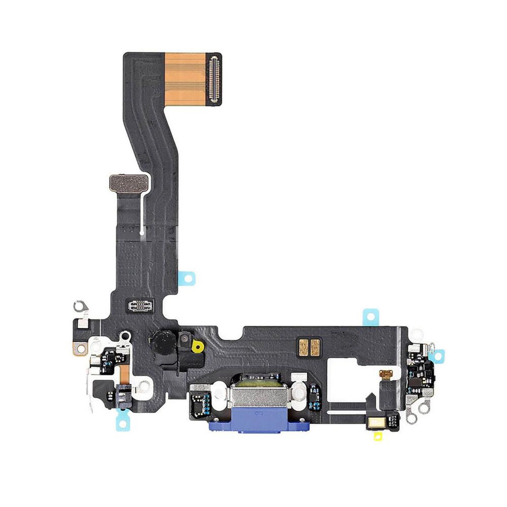Купить Шлейф с разъемом зарядки Lightning (Blue) для iPhone 12 mini