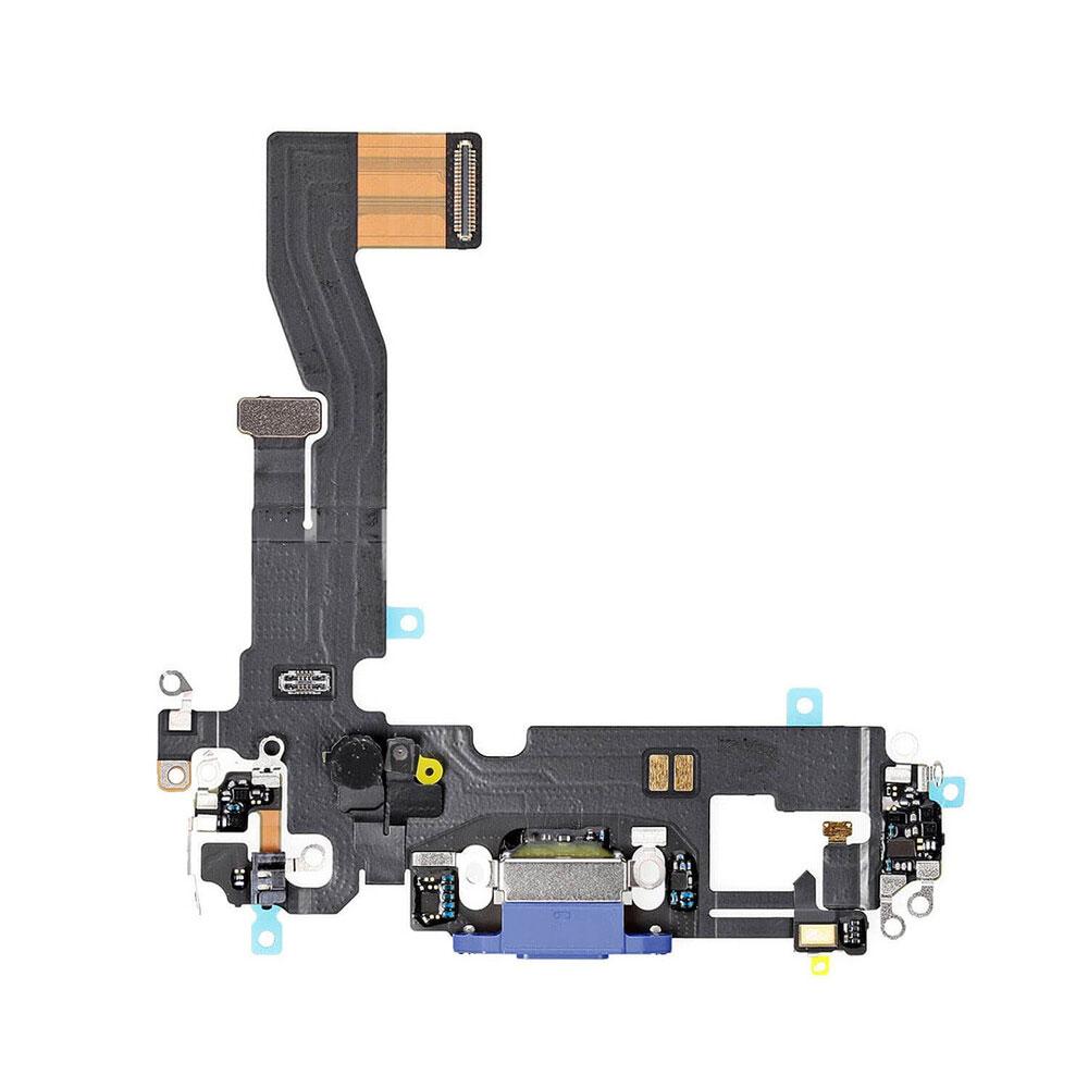 Купить Шлейф с разъемом зарядки Lightning (Blue) для iPhone 12